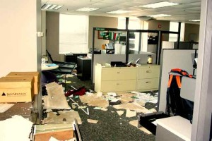 LOAN SERVICES MAYHEM: Records strewn about / Photo: Unknown