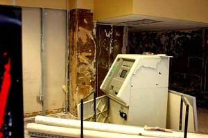INSIDE DAMAGE: Some ATMs in offices also damaged / Photo: Property Management
