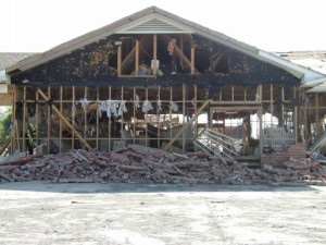 HARD TO BELIEVE: This Meraux office was'blown out,' probably by a tornado during Katrina / Photo: Tommy Doiron