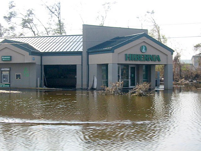 MUDDY WATER: This Chalmette office was flooded by about 7 feet of water that left 8 inches of mud inside  the building and across the property / Photo: Tommy Doiron