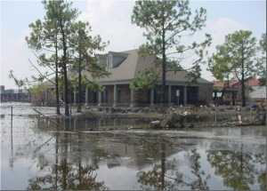 IN A LAKE: This eastern New Orleans branch on Crowder Avenue was one of Hibernia's busiest. It was filled with 7 feet of water that stayed three weeks / Photo: Tommy Doiron
