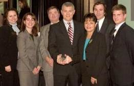 "RATED ONE OF BEST: Pictured at CityBusiness event - recruiters Rachel Dirman and Angela Glaviano; Main Office manager Royce Matheny; CityBusiness publisher Mark Singletary; trade area manager Judy Dawson; and recruiters Charles ""Chip"" Romano and Floyd Riedlinger / Photo: Unknown"