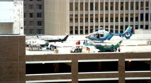 HELIPAD: Choppers spotted at Tulane Hospital / Photo: Alex Mobley