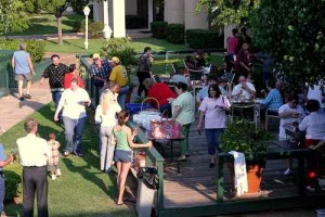 A LITTLE R&R: Families band together for cookouts / Photo: Skip Federico