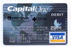 RED CROSS: Emergency cash card / Graphic: Capital One