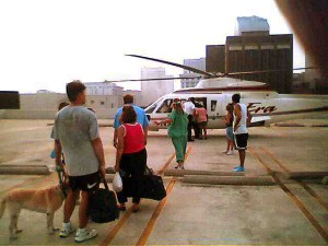 READY TO BOARD: Ordeal almost over / Photo: Bruce Martin
