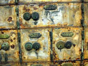 CORRODED: Hundreds of safe deposit boxes were damaged in flood / Photo: Russ Hoadley