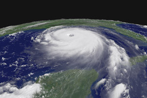 KATRINA: Storm fills the Gulf of Mexico / Photo: NOAA